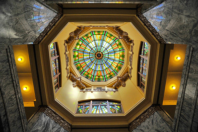 Harris County 1910 Courthouse Dome Ceiling Stained Glass