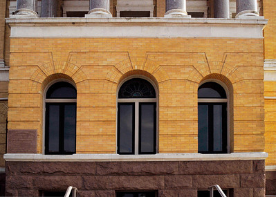Harrison County Courthouse, Marshall, Texas Romanesque styled windows