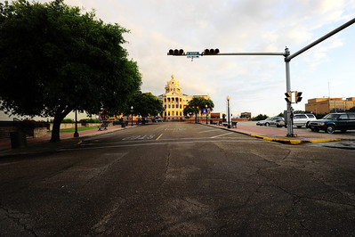 Harrison County Courthouse, Marshall, Texas a block away