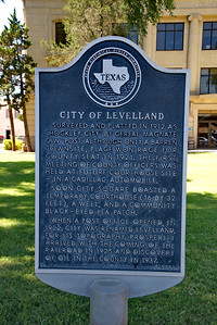 Texas Historical Commission:  City of Levelland Historical Marker