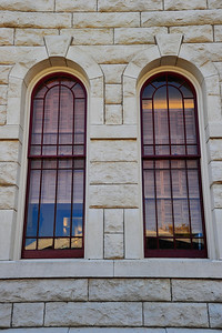 Hood County Courthouse, Granbury, Texas  Arched windows, one of the features of the Second Empire style architecture
