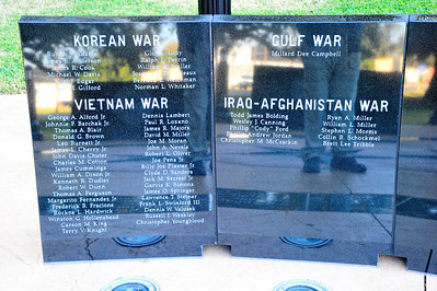 Veterans Memorial Names of Those Killed in Action
