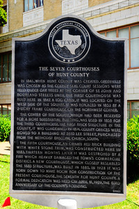 Hunt County Courthouse Historical Marker