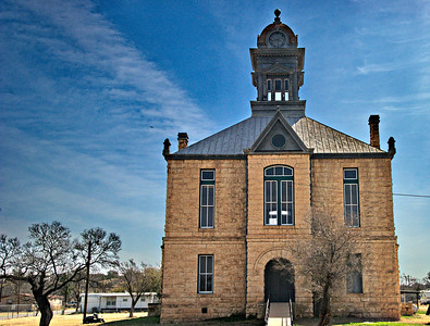 1901 Irion County Courthouse in Sherwood, Texas, Second Empire architecture