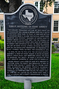 Kerr County Early Settlers Historical Marker