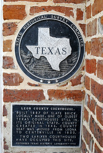 Leon County Courthouse, Centerville, Texas Historical Plaque