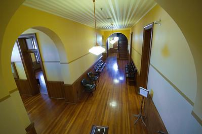 Restored interior:  hardwood floors