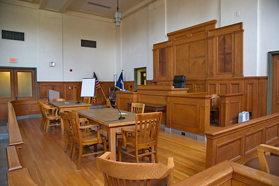 Menard County Courthouse, Menard, Texas Courtroom