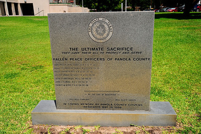 Panola County Courthouse, Carthage, Texas Peace Officers Memorial