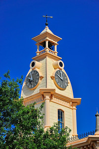 Red River County Courthouse:  Clarksville, Texas Clock tower