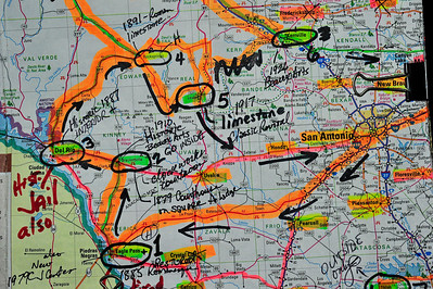 Route of the Day:  distance traveled...853 miles                             Eagle Pass, Brackettville, Del Rio, Rocksprings, and Leakey