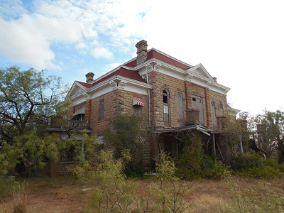 1891 Rayner courthouse on private land about 7 miles east of Aspermont on US380