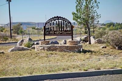 Marathon, Texas west of Sanderson and entrance to Big Bend National Park
