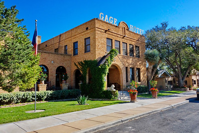 Marathon, Texas:  The famous of Gage Hotel