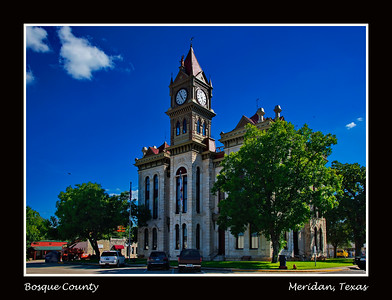 Bosque County Courthouse:  Meridian, Texas