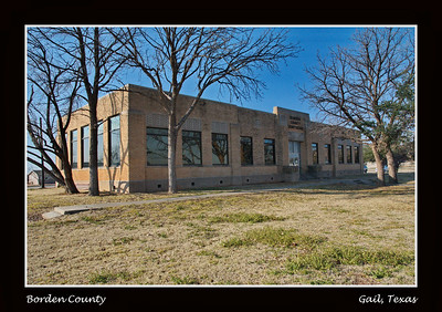 Border County Courthouse:  Gail, Texas