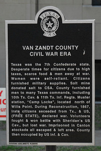 Van Zandt County Courthouse, Canton, Texas Civil War Era Historical Marker