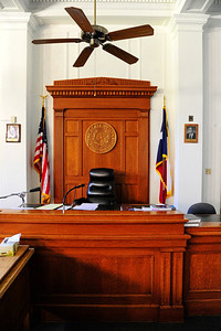 Winkler County Courthouse, Judges Seat in the Courtroom