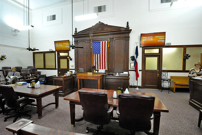 Wood County Courthouse, Quitman, Texas Courtroom