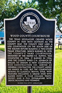 Wood County Courthouse, Quitman, Texas Historical Marker