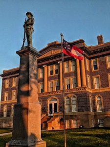 """""""Day is Done"""" - Mills County Courthouse - Goldthwaite, Texas"""