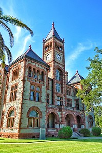 """DeWitt County Courthouse"" - Cuero, Texas"