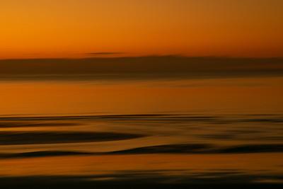 Calm at Sunset.  Blackpool
