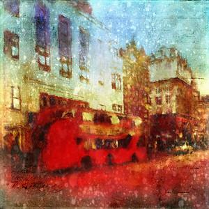 Rain on a London Street