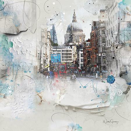 St Paul's - view  from Fleet Street