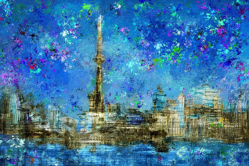 Painted City - Texture Art