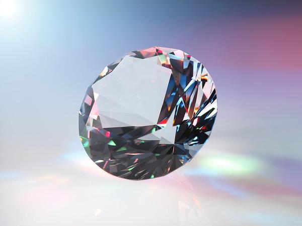 Diamond refracting light