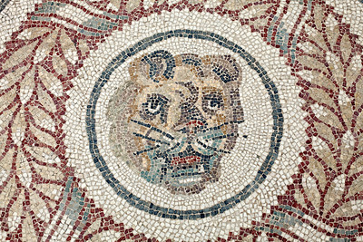 Villa Romana del Casale, mosaics of peristyle, detail, Piazza Armerina