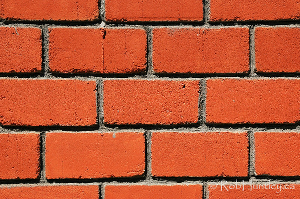 Red brick wall. Detail of a red brick wall in Huatulco, Mexico. © Rob Huntley