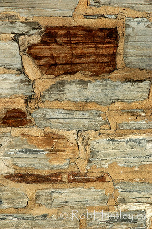 Close-up detail of a stone wall.