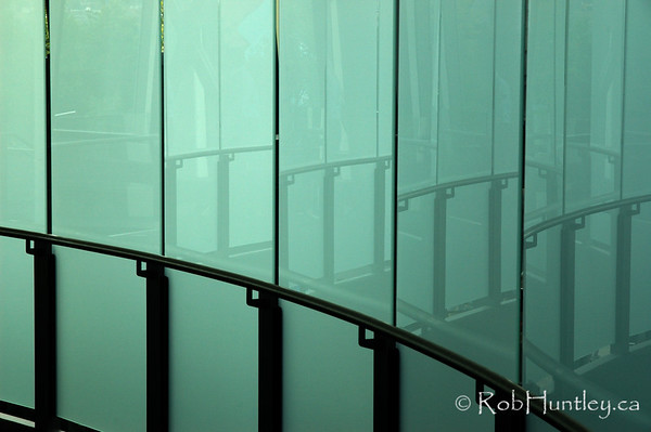 Glass corridor and reflections found in the Space Needle, Seattle, Washington.  © Rob Huntley