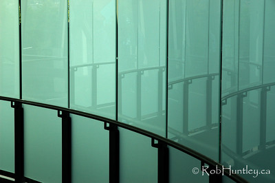 Glass corridor and reflections found in the Space Needle, Seattle, Washington.