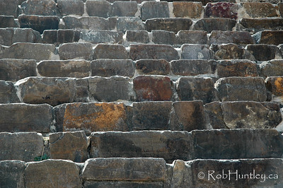 Pattern detail of stone stairs at Monte Alban, Oaxaca, Mexico. © Rob Huntley