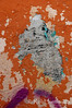 Orange wall and peeling paint detail.<br /> <br /> © Rob Huntley