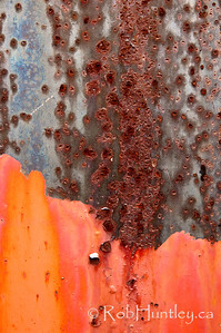 Two tone rusted metal. Rusty metal plate.  © Rob Huntley