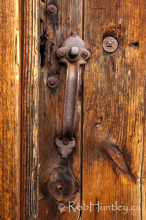 Rustic Barn Door Handle.  Door Handle on a Rustic Barn.  © Rob Huntley