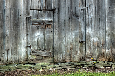 Barnboard wall and door on an old barn in the Ottawa Valley.  © Rob Huntley