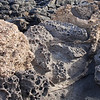 old porous volcanic rock background
