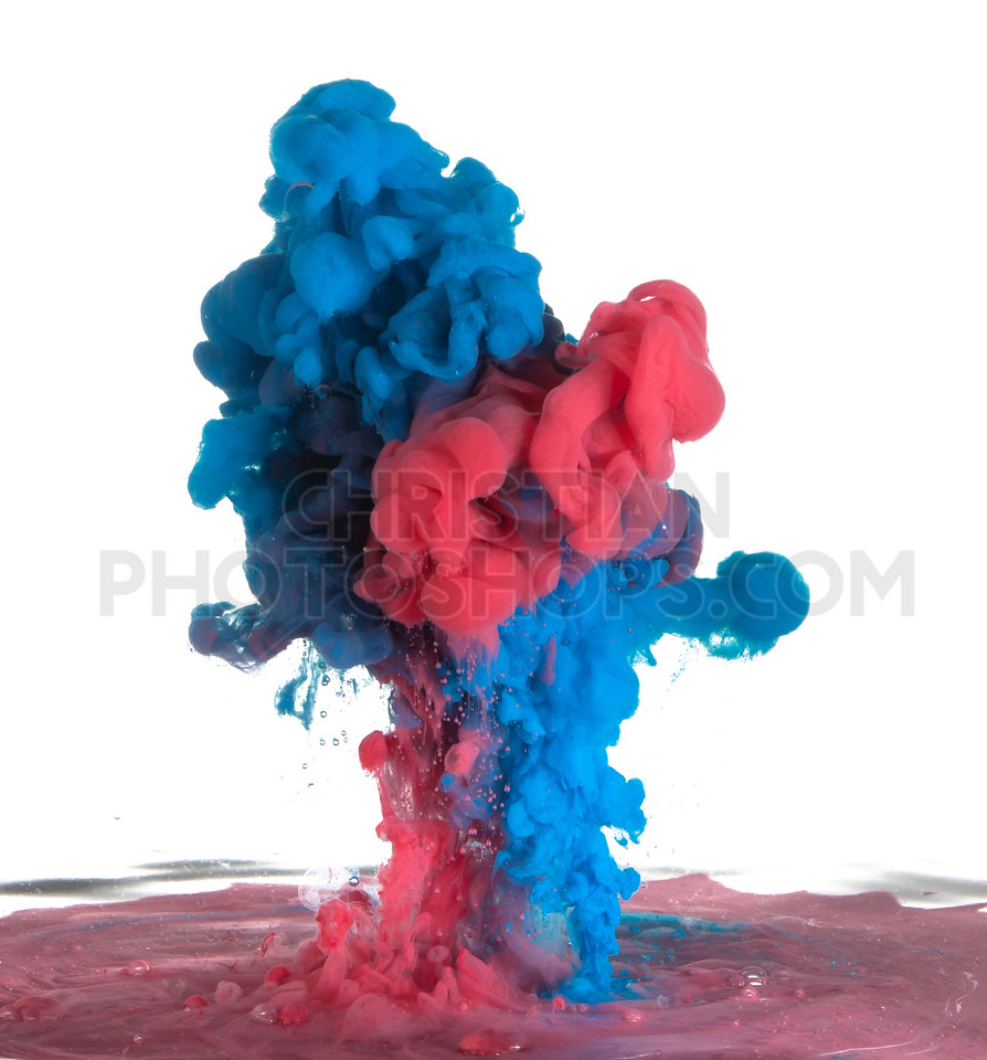 Blue and red paint
