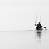Paddling into a fog bank, Apalachicola Bay, St Marks NWR, FL