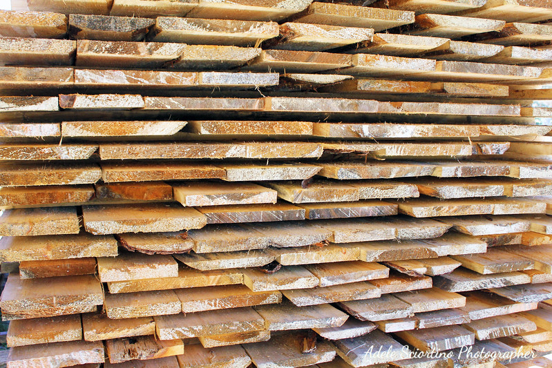 Stacked Cut Lumber
