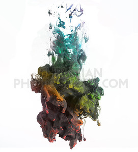 Colorful paints in water