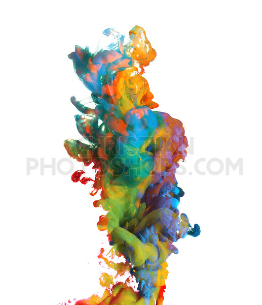 Colorful paints underwater