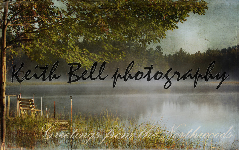 "Below is a photograph that I took and added quite a bit of texture and design to it.  The goal was to create a retro looking 1940's type photo postcard.  I always liked these old postcards and wanted to try to recreate a little of that nostalgia.  I call this one ""Greetings from the Northwoods""."