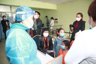 """2021 оны зургаадугаар сарын 2. Сүрьеэ-КОВИД-19  халдвар"""" илрүүлэг үзлэгийн нээлтийн үйл ажилллагаа боллоо.  ГЭРЭЛ ЗУРГИЙГ Д.ЗАНДАНБАТ/MPA"""