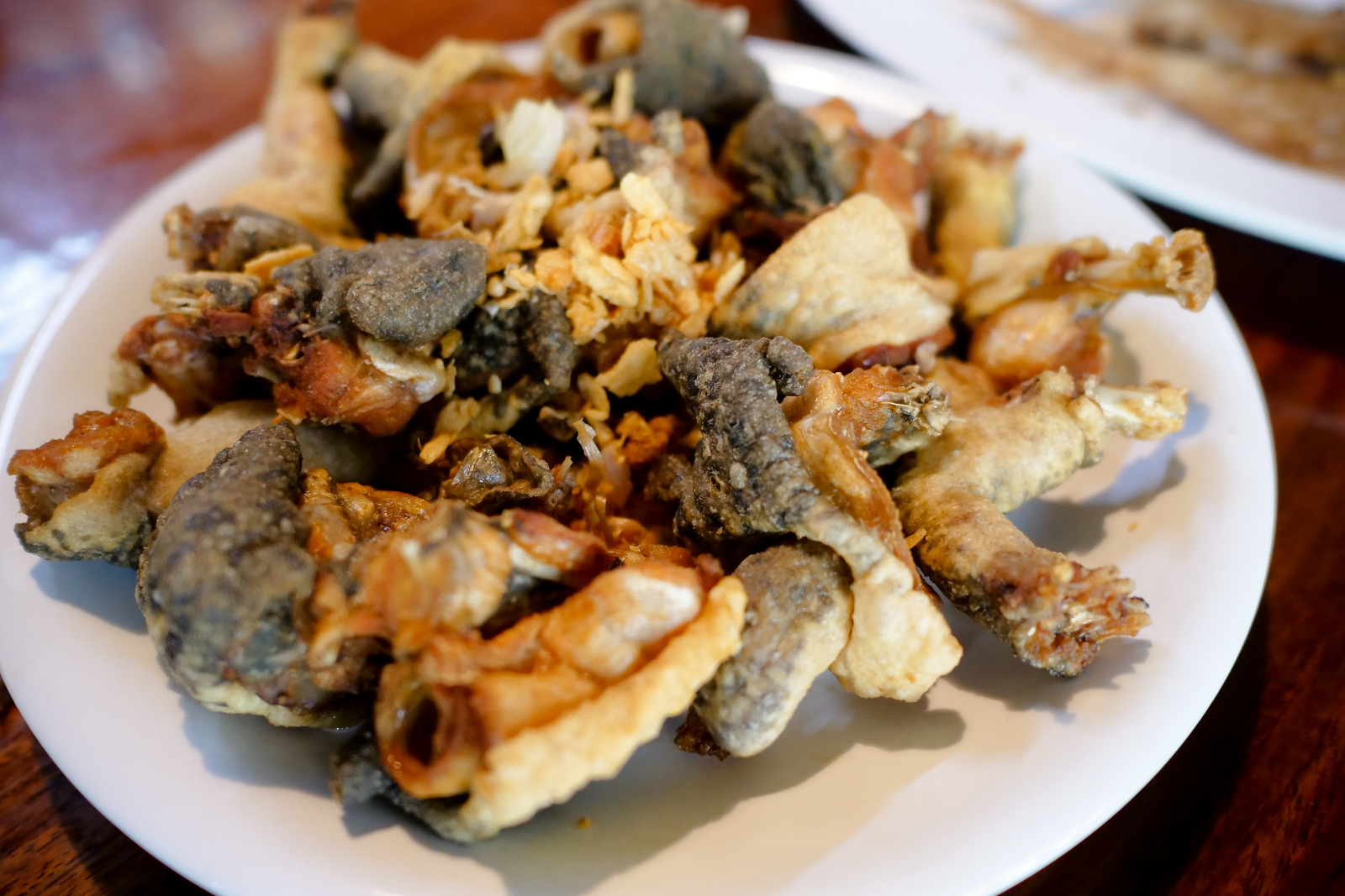Fried frog at Ba Chao Ahaan Pa